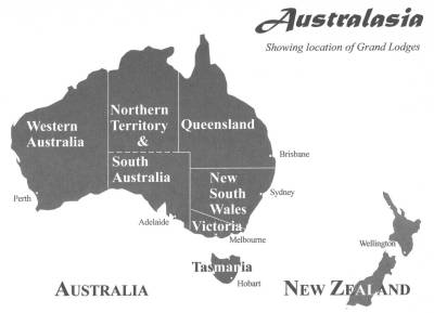 Location of Grand Lodges in Australasia