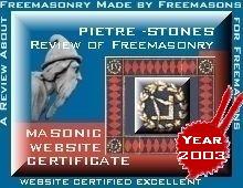 Excellent Masonic Website  Certificate
