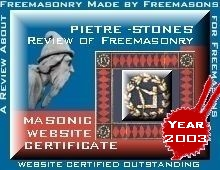 outstanding Masonic web site certificate