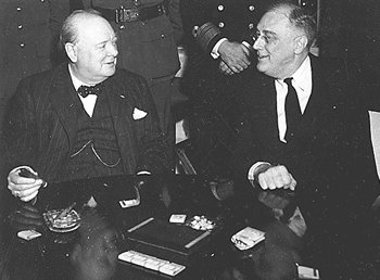 Prime Minister Winston Churchill and President Franklin Roosevelt