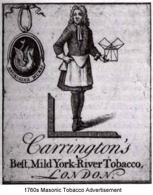 1760s Masonic Tobacco Advertisement