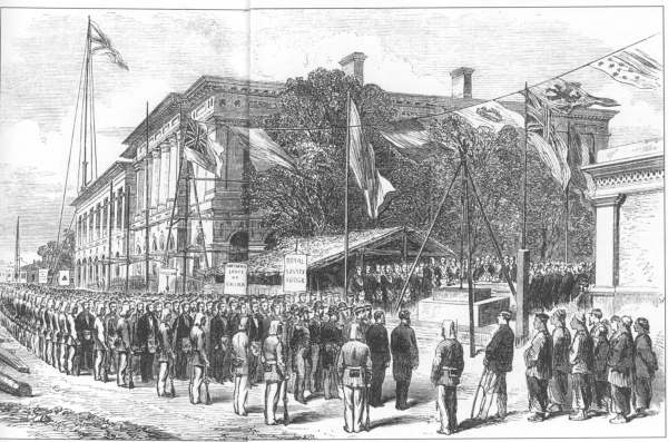 Laying the foundation stone of the Masonic Hall at Shanghai,1865