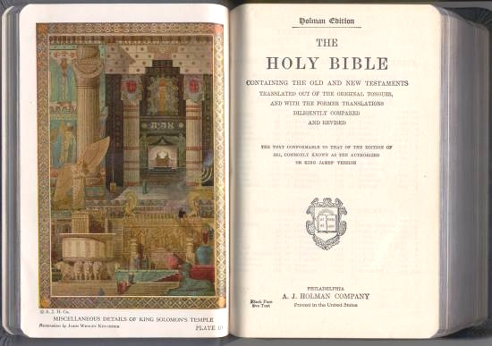 Holy bible red letter edition masonic edition cyclopedic indexed.
